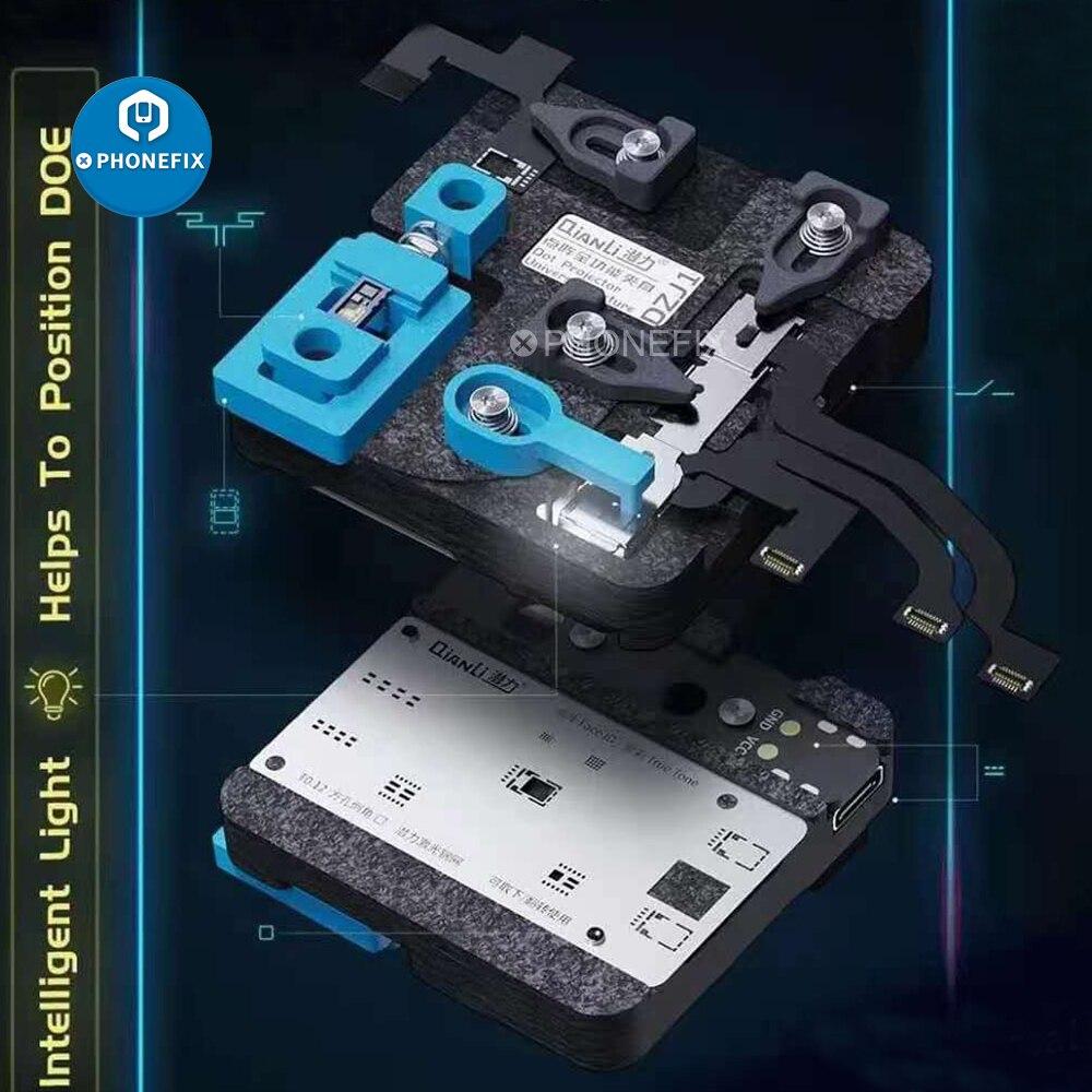 Reballing a Laser para Iphone Universal Projetor Dispositivo Elétrico Verdadeiro Tom Estêncil x xs Max 11pro Face id Reparação Cabo Flexível Sulco Dot