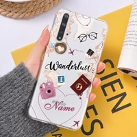 diy name travel map clear case for huawei p20 p30 p10 lite mate 20 30 pro p smart 2019 cases for honor 10 20 pro back cover case