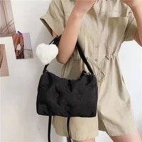 casual ladies down bag luxury purses and handbags fashion women padded shoulder bag square quilted crossbody bags underarm bag