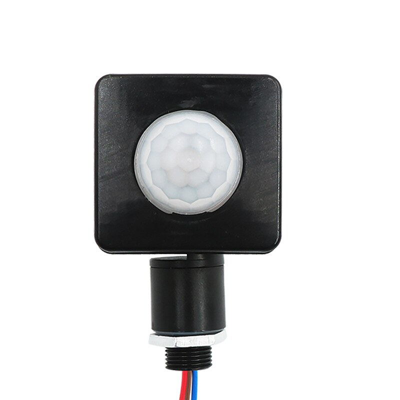 Interruptor infrarrojo impermeable para exteriores, Sensor de movimiento PIR ajustable, Detector de...