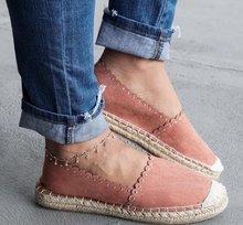 Femmes bas dessus toile surfaces plates été respirant plat Espadrille chaussures décontracté bout rond chaussures plates