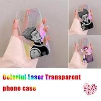 hisoka hunter x hunter phone case for iphone xiaomi redmi 7 8 9 11 12 10 s x xs xr mini pro max plus laser transparent