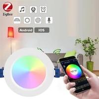 tuya zigbee 3 0 mesh smart ceiling lamp led downlight tuya smartthings app rgbcw dimmable spotlighting 10w 12w alexa google home
