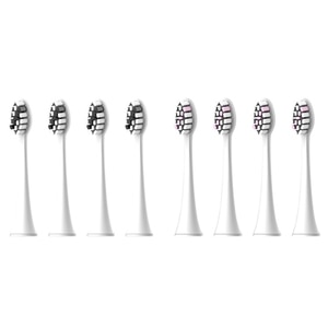 EAS-8Pcs Replacement Toothbrush Heads for Seago S2/E8/EK9/C8/S1/S6/S/E/C/EK Electric Toothbrush Heads White Black&White Pink