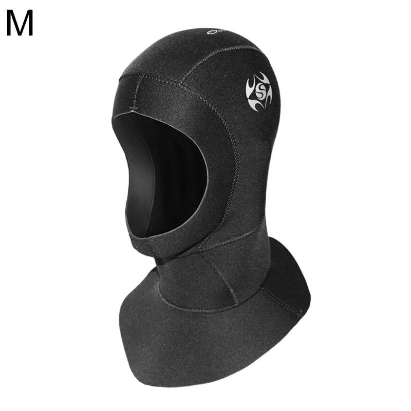 Capucha de buceo 3mm gorro de buceo de neopreno impermeable cálido traje de neopreno gorro para buceo de superficie Q1FF