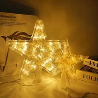 christmas led star fairy night light xmas tree top five pointed star lamp for wedding christmas party new year home decorations
