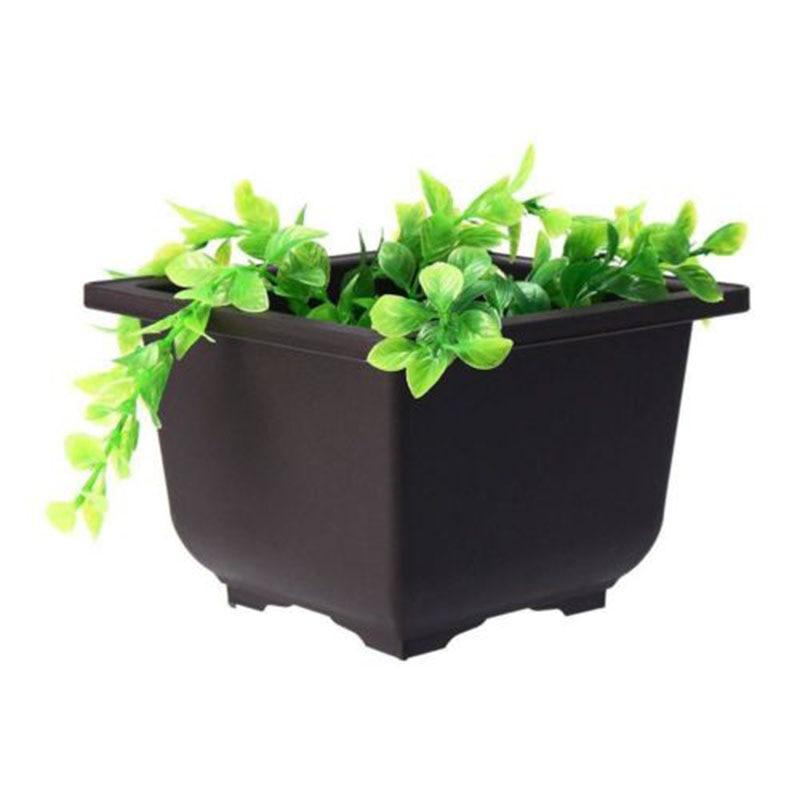 Rectangular Plastic Flower Pot Home Desktop Balcony Garden Plant Pot Plant Nursery Flower Basin Home Decor Bonsai Gardening Tool