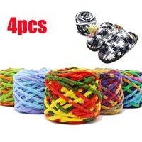 4pcs colorful thick yarn for knitting beautiful hat scarf sweater shoes giant wool blanket cashmere yarn