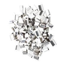 100 pièces 15mm x 10mm x 5mm métal recharge réutilisable pour distributeur de Clips de palourde