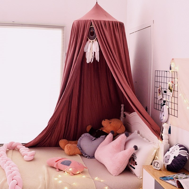 Baby Canopy Mosquito Children Room Decoration Crib Netting Baby Tent Hung Dome Baby Mosquito Net Photography Props