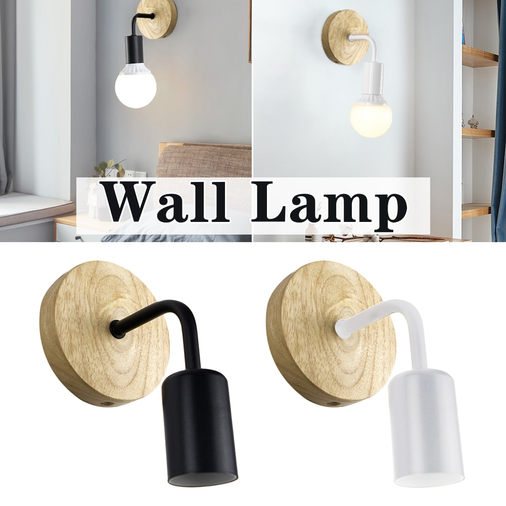 Wood Wall Lamp Vintage Sconce Wall Lights Fixture E27 220V Bedside Retro Lamp Industrial Decor Dining Room Bedroom Light NO Bulb wood iron wall lamps vintage sconce wall light fixture e27 220v bedside retro lamp industrial decor dining room bedroom light