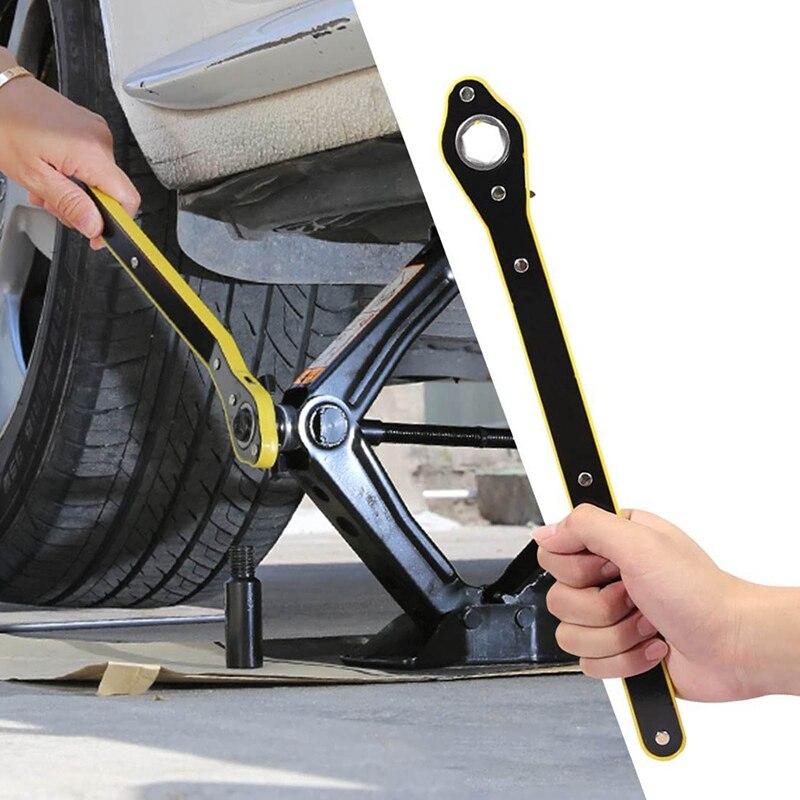 Автомобильный экономящий домкрат, гаечный ключ с храповым механизмом, ножничный домкрат, гаечный ключ для колес гаража, гаечный ключ с ручк...