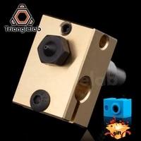 hardened steel v6 nozzle brass heater block titanium alloy heat break high temperature upgrade kit for v6 hotend titan