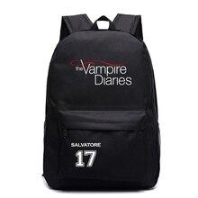 Fashion The Vampire Diaries Backpack Students School Bags Cool New Pattern Knapsack for Men Women Teens Bookbag Travel Rucksack