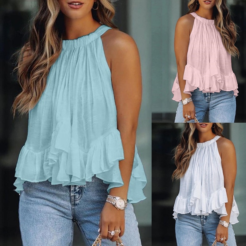Camis Ladies Tee Fashion Loose Casual White Tops and Blouses Women 2021 Summer Clothes for Shirt Solid Top Female Blouse