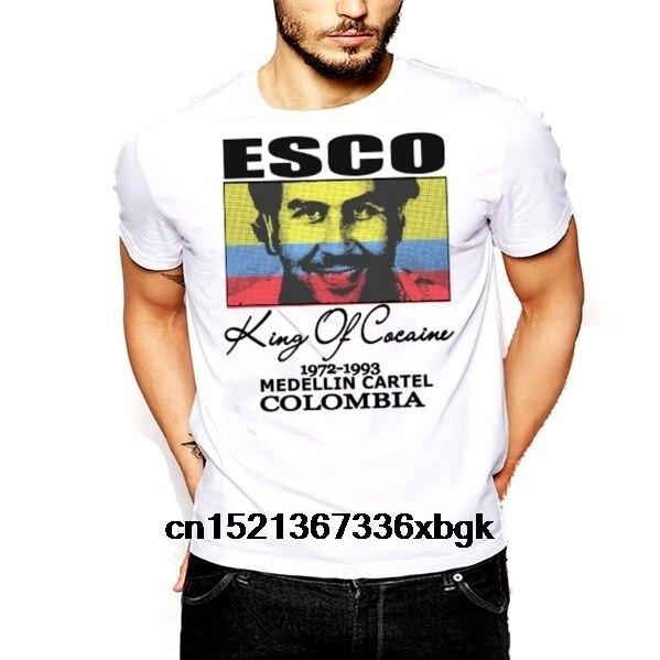 Pablo Escobar T-Shirt Medellin Cartel King of Plato A Plomo Colombian Tee Shirt Mens 2018 New T Shirts Printing Simple