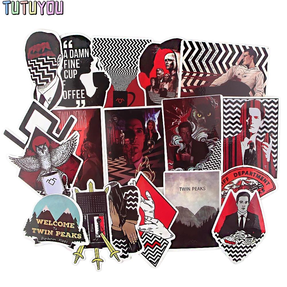 PC1902 18pcs/set TV Series Twin Peaks Scrapbooking Stickers Decal For Guitar Laptop Luggage Car Fridge Graffiti Sticker