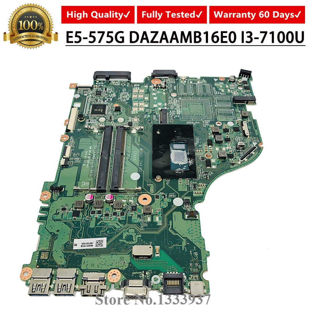 DAZAAMB16E0 I3-7100U SR2ZW ordenador portátil placa madre para Acer Aspire E5-575 E5-575G E5-575TG F5-573 E5-774G ZAA X32 placa base