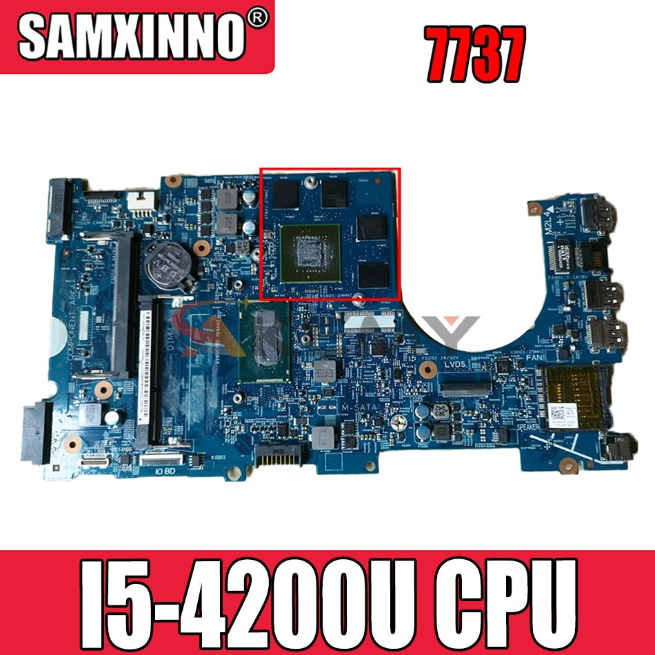 شحن مجاني لأجهزة الكمبيوتر المحمول انسبايرون 7737 CN-02D5TK 02D5TK 2D5TK 12309-1 مع SR170 I5-4200U وحدة المعالجة المركزية 100% مختبرة بالكامل