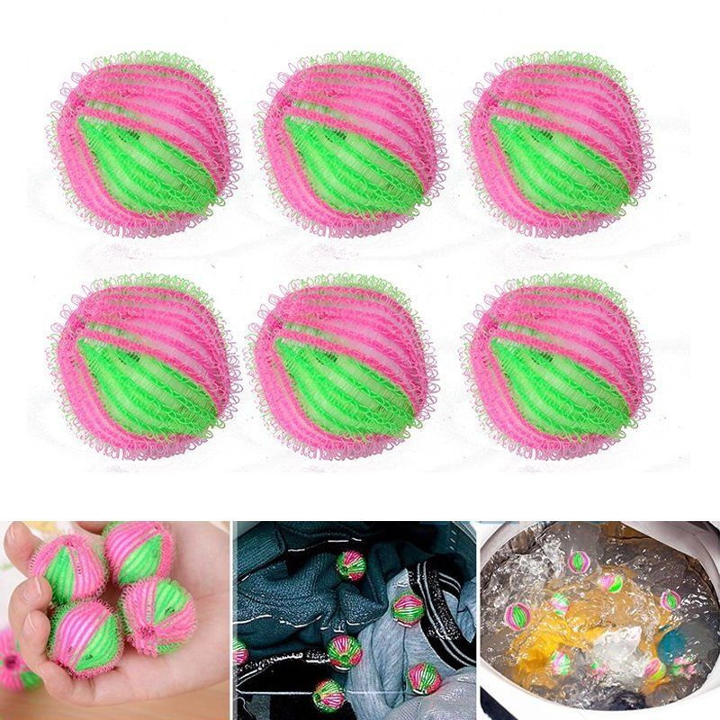6pcs Magic Hair Removal Laundry Ball Clothes Personal Care Hair Ball Washing Machine Cleaning Ball G