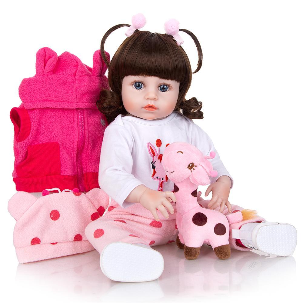 49 cm Silicone Full Body Reborn Baby Dolls Fashion Realistic Waterproof Baby Dolls Soft Touch Toddler Xmas Gift Birthday Present