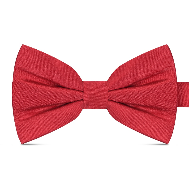 2020 New Fashion Men's Bow Ties for Wedding Double Fabric Slik Solid Color Bowtie Club Banquet Butterfly Tie with Gift Box