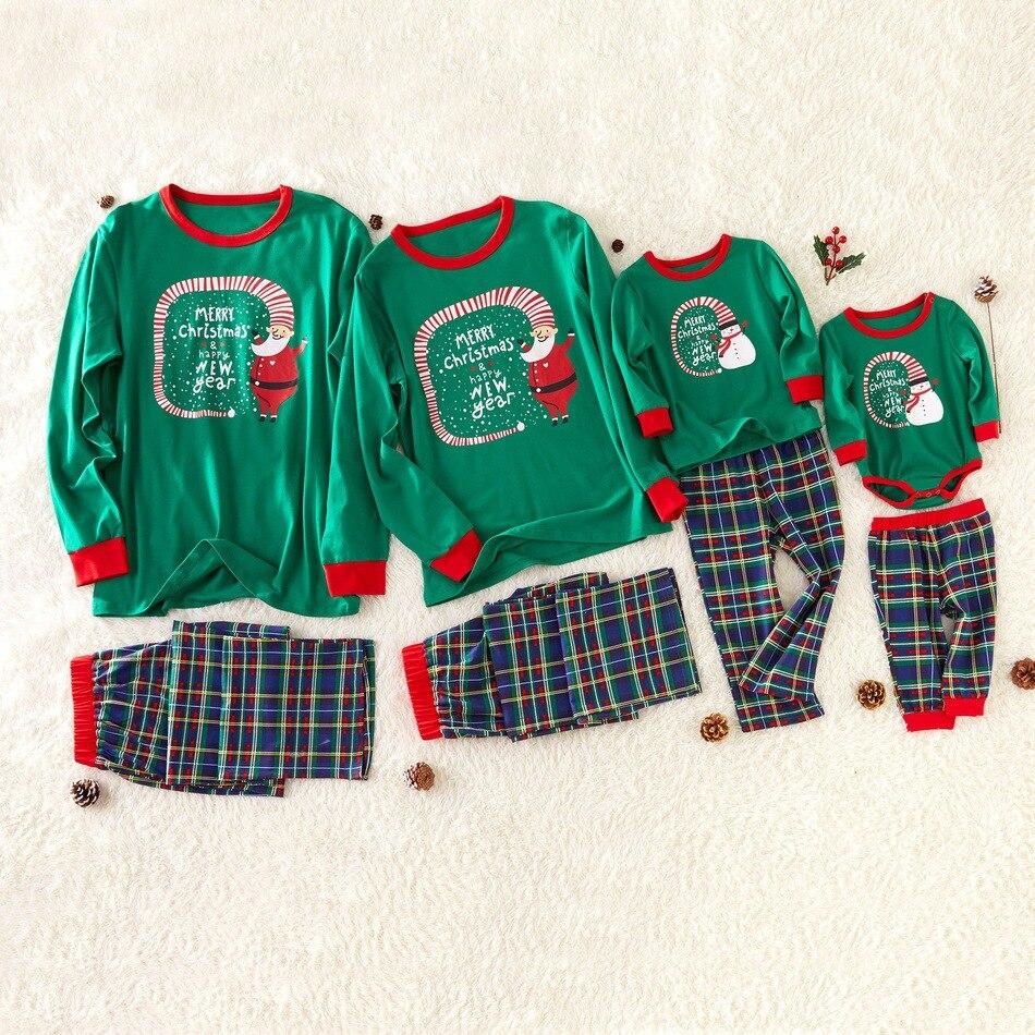 Conjunto de pijamas de navidad para madre e hija, ropa de madre...