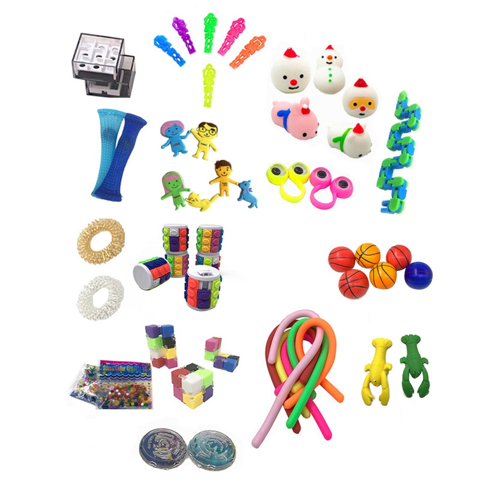 Kids Gift Set 10/50Pcs Pack Sensory Fidget Toy Set Stress Relief Toys Autism Anxiety Squishy Balls Fidget Toys For boy/girl/Kids enlarge