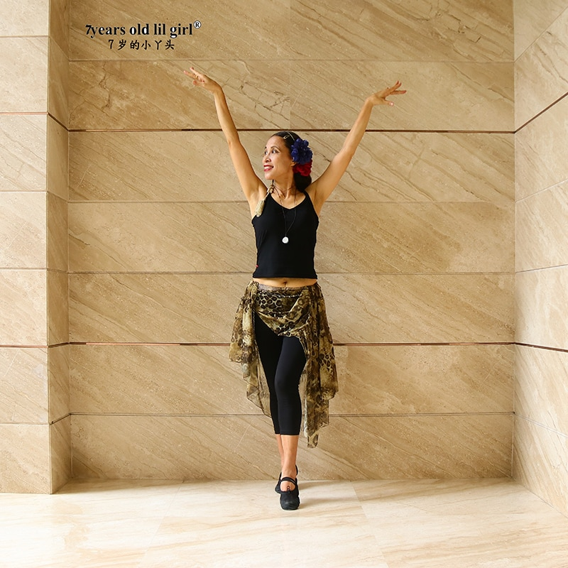 Women Transparent Thin Skirt Oriental Dance India Bollywood Belly  EY14