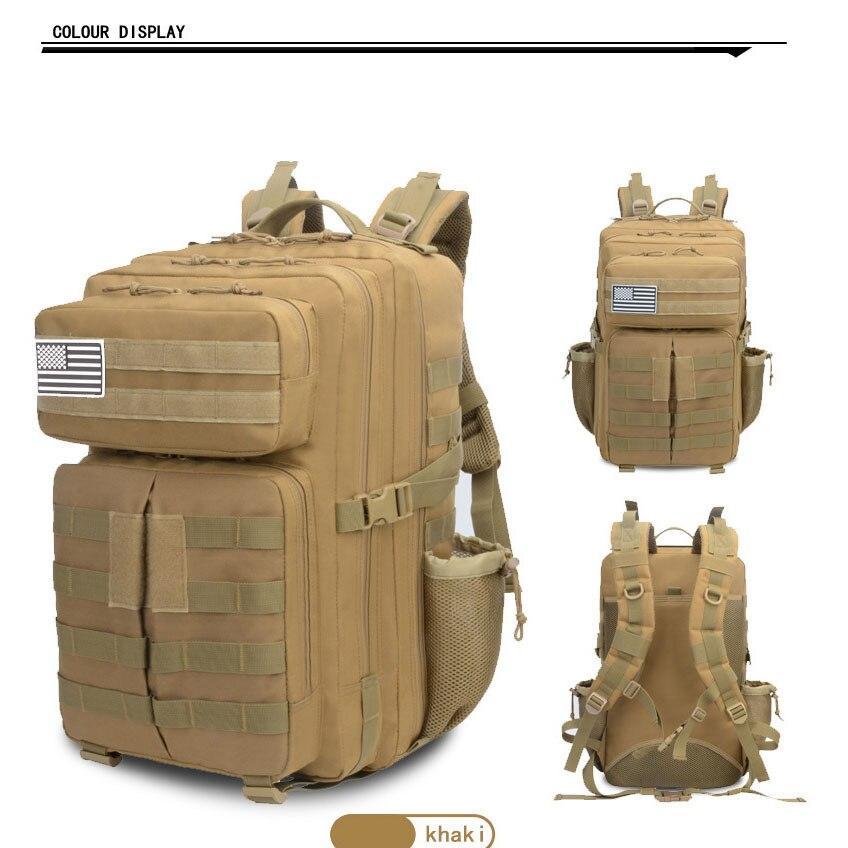 حقيبة ظهر للتدريب العسكري حقيبة ظهر تكتيكية للهجوم حقيبة ظهر عسكرية بكتف مزدوج حقيبة ظهر لتسلق الجبال 50L