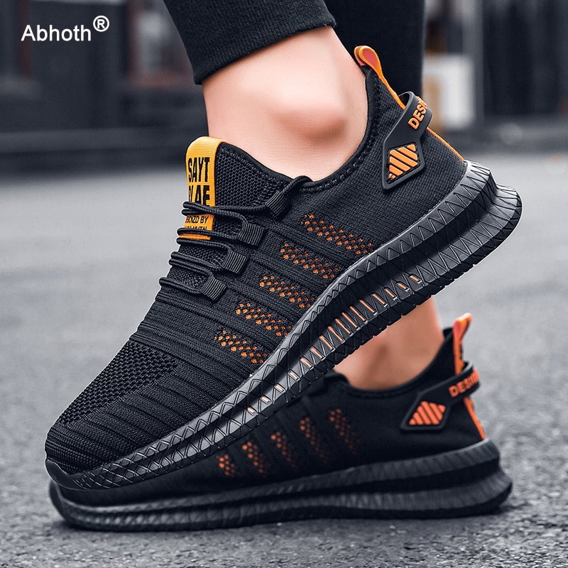 Abhoth Running Shoes Comfortable Light Casual Men's Sneaker Breathable Non-slip Wear-resistant Outdoor Walking Men Sport Shoes