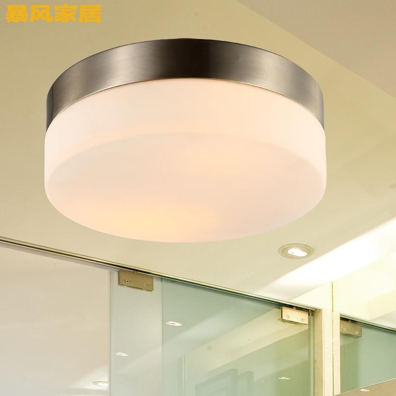 29cm moderno led ferro luz de teto vidro redondo abajur lamparas techo abajur