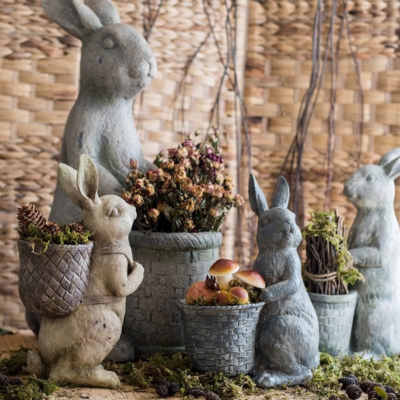 الرجعية الراتنج الحيوان اناء للزهور لطيف الحلي النمط الأمريكي اناء للزهور فناء شرفة Doniczka Ozdobna حديقة المنزل