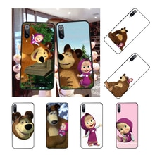 NBDRUICAI Masha and Bear DIY Luxury Phone Case for Redmi Note 8 8A 7 6 6A 5 5A 4 4X 4A Go Pro Plus Prime