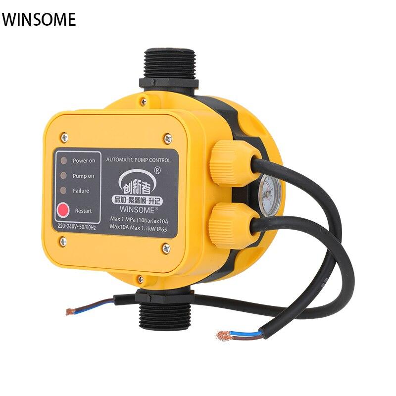 مفتاح ضغط الإلكترونية المنزلية التيار المتناوب 220 فولت قابل للتعديل مضخة مياه تحكم ذكي التلقائي مضخة معززة بسلك