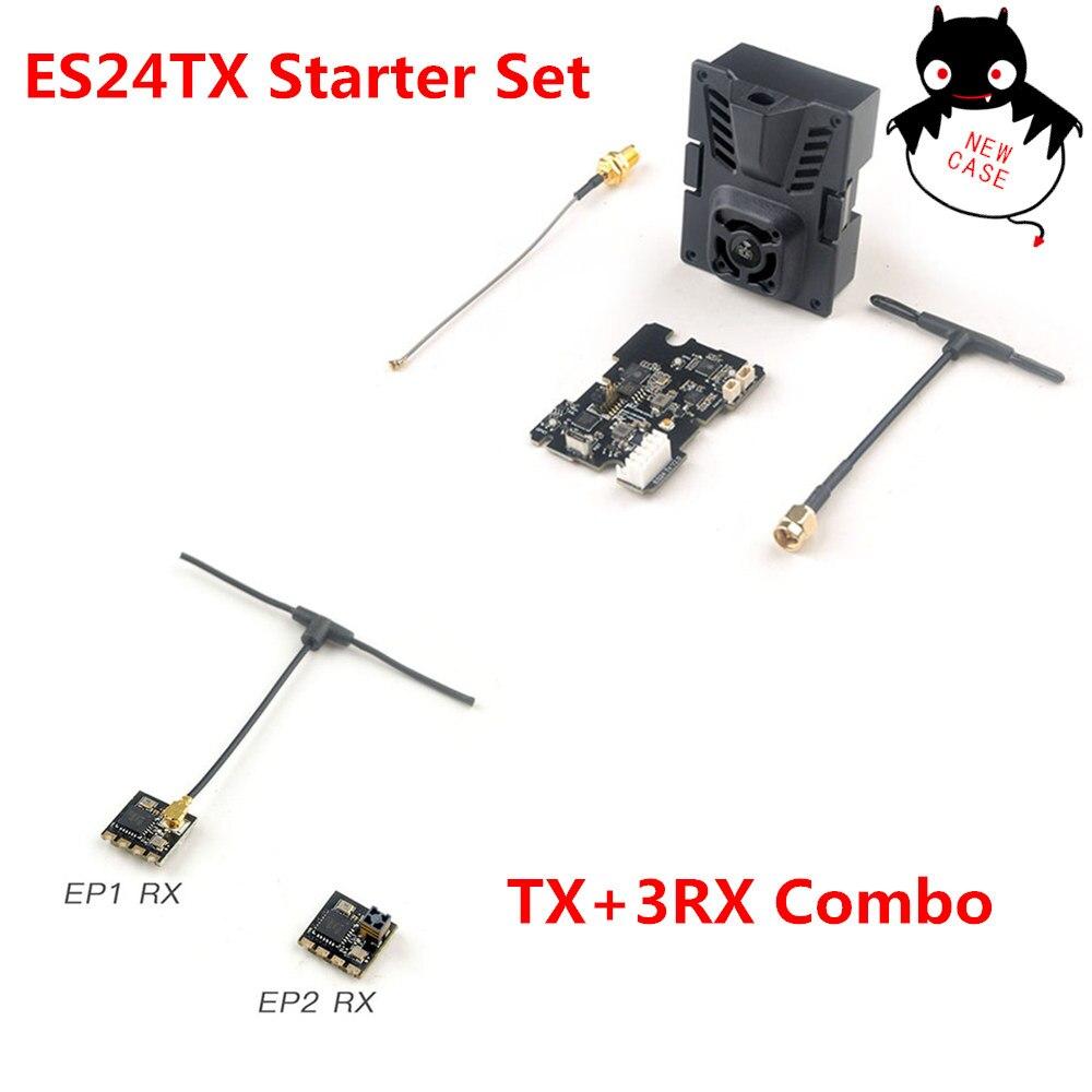 طقم بداية HappyModel 2.4G express slrs ELRS ES24TX 2.4G Micro TX مع 3 قطعة 2.4G EP1 EP2 RX لطائرة RC FPV طائرات بدون طيار طويلة المدى