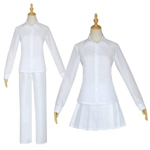 Anime The Promised Neverland Cosplay Costume Student Uniform Emma Norman Ray Cosplay Clothes