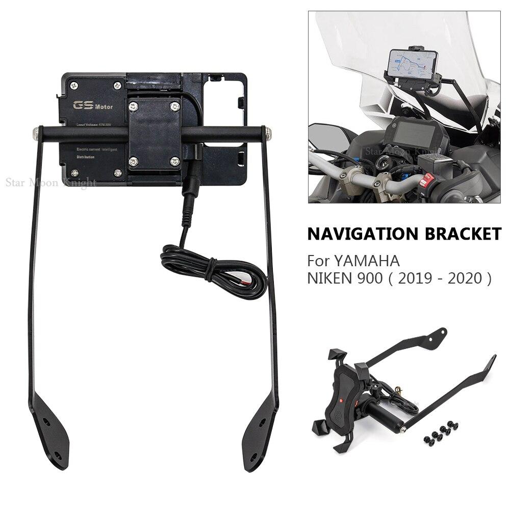 NIKEN-soporte para parabrisas de motocicleta, placa de navegación GPS para teléfono móvil,...