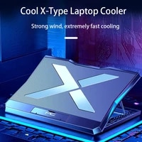 adjsutable laptop cooling pad 6 fan notebook computer cooler stand rgb lighting laptop cooling pad notebook stand for desk