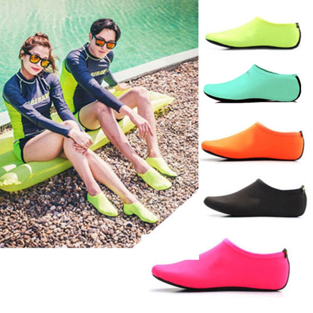 Durable Sole Barefoot Water Skin Shoes Water Sports Diving Aqua Socks Beach Pool Sand Swimming Yoga
