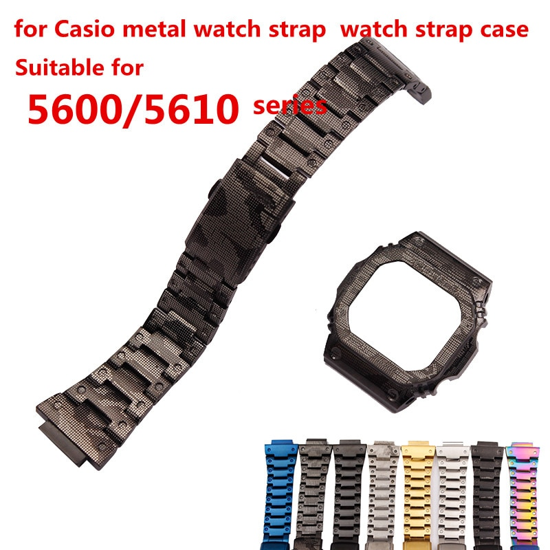 ساعة اكسسوارات مناسبة ل كاسيو G-SHOCK DW-5600 5035 GW-M5610 حزام التمويه