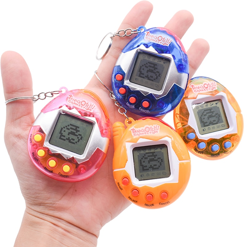Tamagochi Virtual Pet Electronic Pets Toys 7 Colors 49 Animals In One Box Nostalgic Kid's Toys With Key chain Christmas Gift