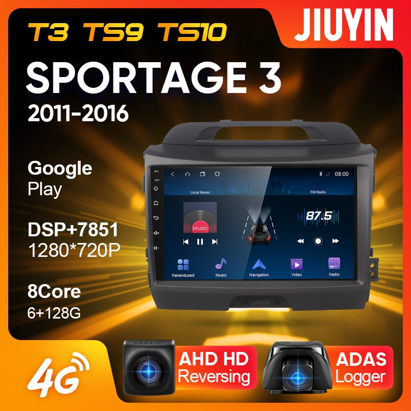 JIUYIN Type C Car Radio Multimedia Video Player Navigation GPS For Kia Sportage 3 SL 2011 - 2016 And