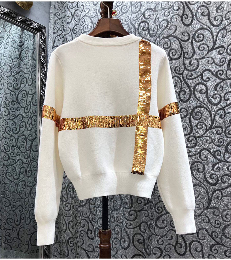 Sweaters and Pullovers 2020 Autumn Winter Knitwear Women Crew Neck Sequined Butterfly Deco Long Sleeve Casual Knitted Jumpers enlarge