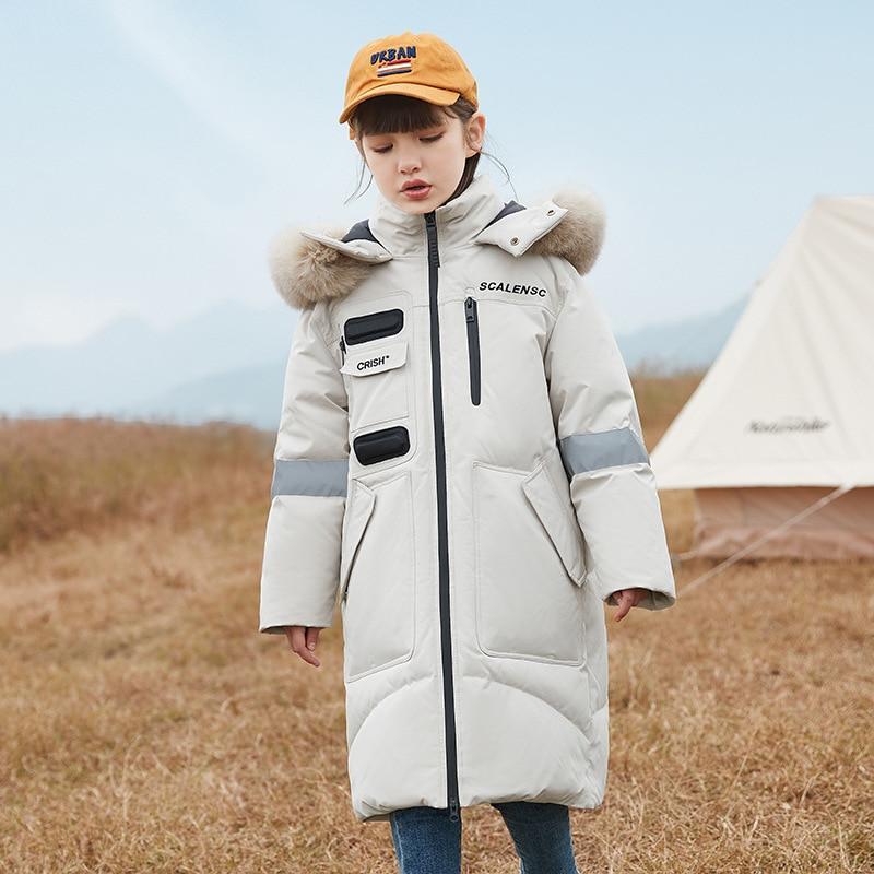 -30 Degree Children Clothing 2021 Boy Clothes Warm Winter White Duck Down Jacket Hooded Coat Waterproof Thicken Outerwear Kids enlarge