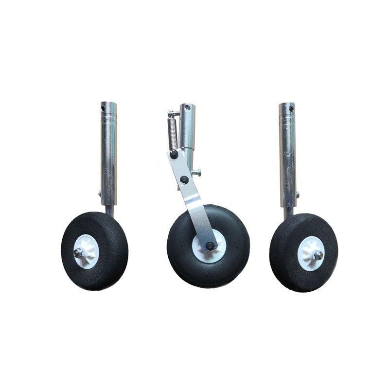 Liga de alumínio Sho c k Silicagel ber Retrátil Landing Gear Set Adequado para 4.0 milímetros Eixo De Aço para RC Avião
