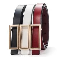 new thin cowskin belt for women genuine leather waistband womens cummerbunds decorative gold smooth belt female luxury straps