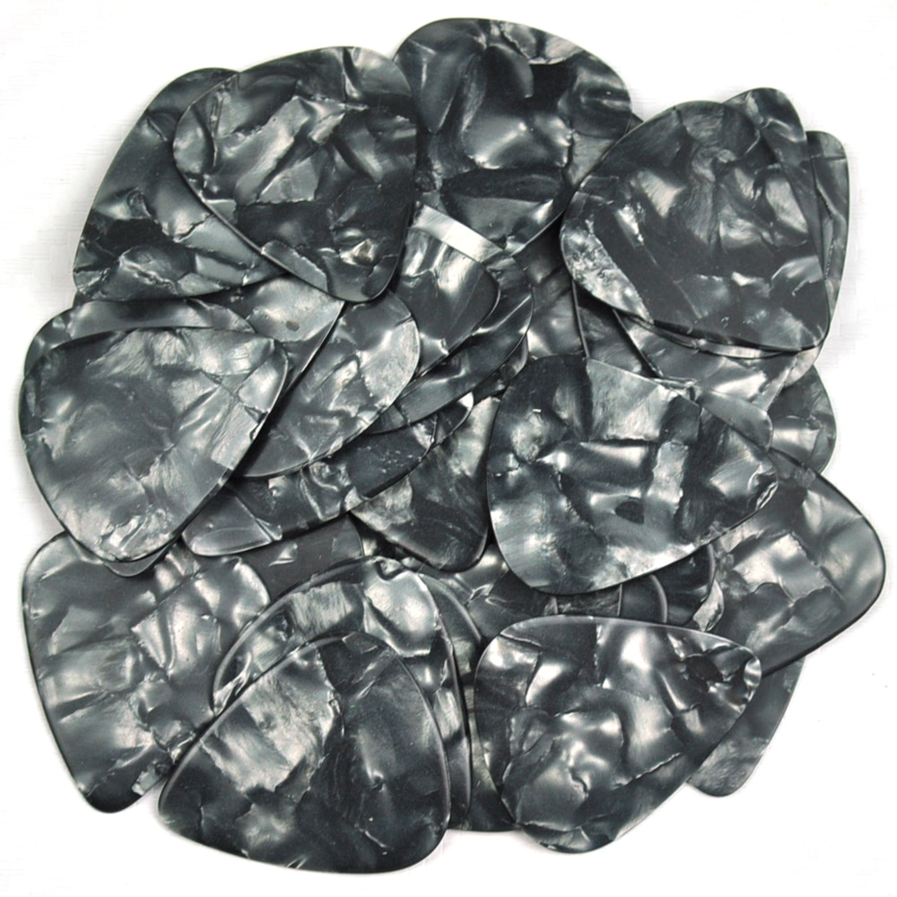 Wholesale 1000pcs Medium 0.71mm Blank Guitar Picks Plectrums Celluloid Pearl Black enlarge