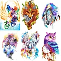 5d diy owl diamond painting animals full squareround diamond embroidery cross stitch wolf painting mosaic home decoration gift