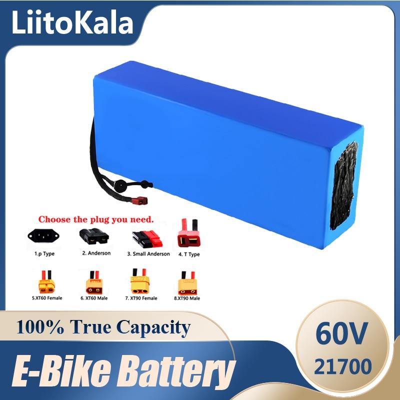 LiitoKala 60V ebike بطارية 60V 20Ah 30ah 40ah 50ah 35ah 25ah 45ah الكهربائية دراجة بطارية 60V 1800W بطارية سكوتر كهربائي
